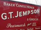 Traditional signwriting - GT Jempson van